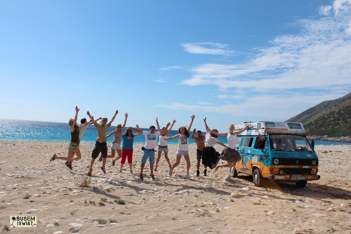 Dzika plaża w Albanii