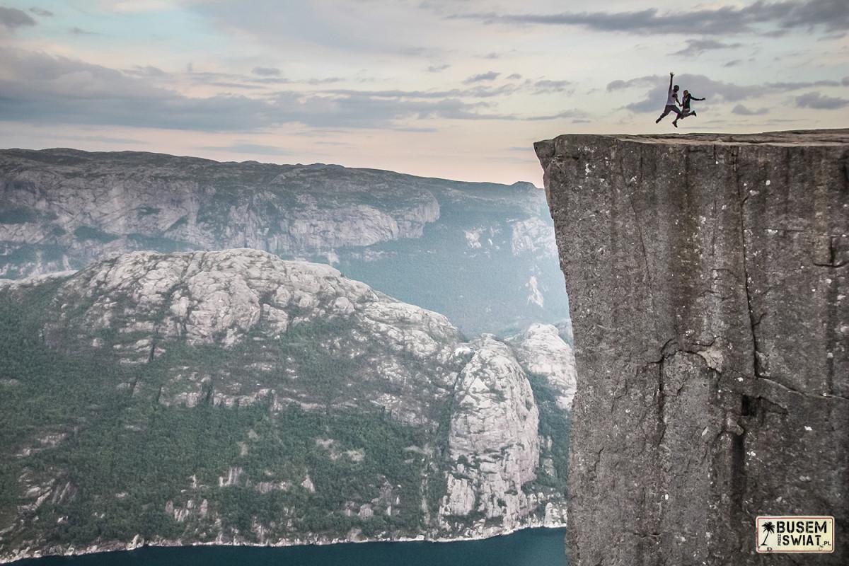 600-metrowa skała Preikestolen (Pulpit Rock), Norwegia