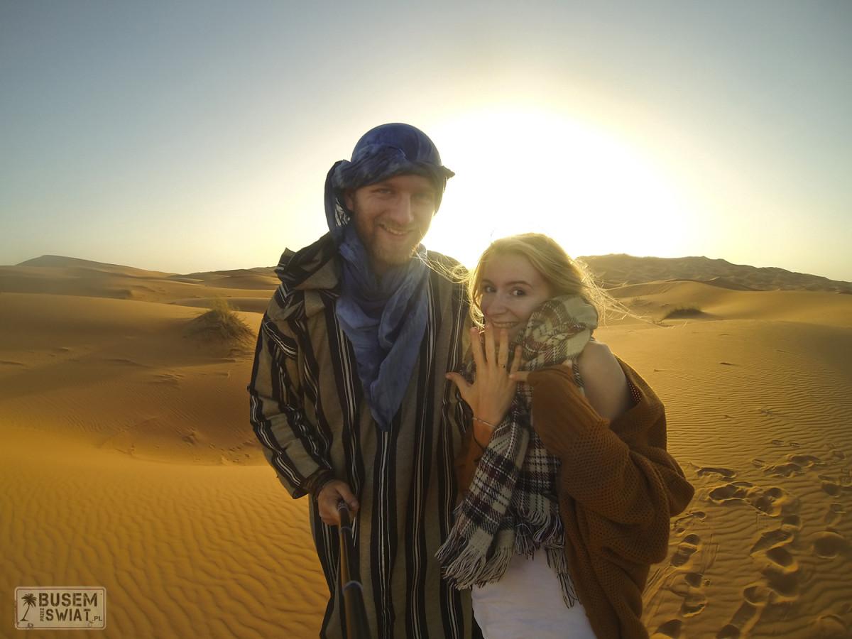 Nasze zaręczyny na Saharze