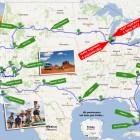 mapa trasa Legalo pl America Trip 2012
