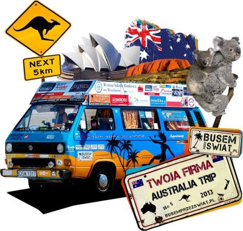 busem przez świat australia trip sponsor tytularny