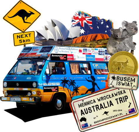 logo wyprawy Mennica Wroclawska Australia Trip 2013 2014