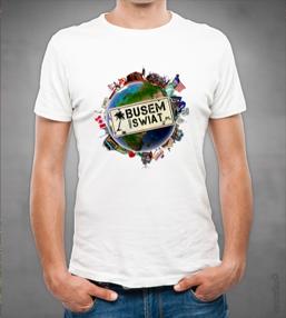koszulka busem przez swiat globus