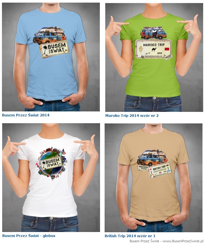 koszulki 2014 busem przez swiat