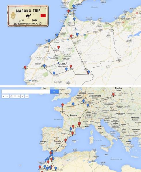 busem przez swiat maroko trip planowana trasa