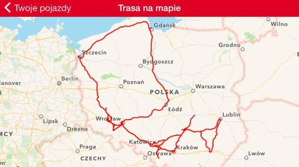 Taką trasę po Polsce zrobiliśmy w styczniu