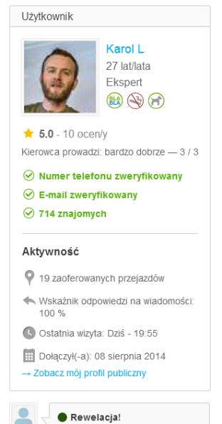 bla bal profil kierowcy