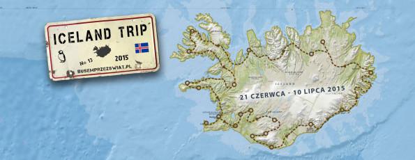 iceland trip busem przez swiat islandia mapa trasa logo