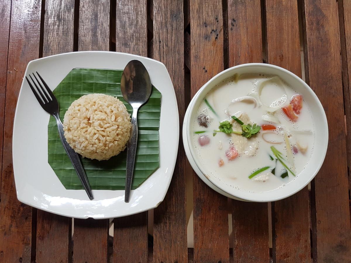 Tajlandia jedzenie widelec łyżka