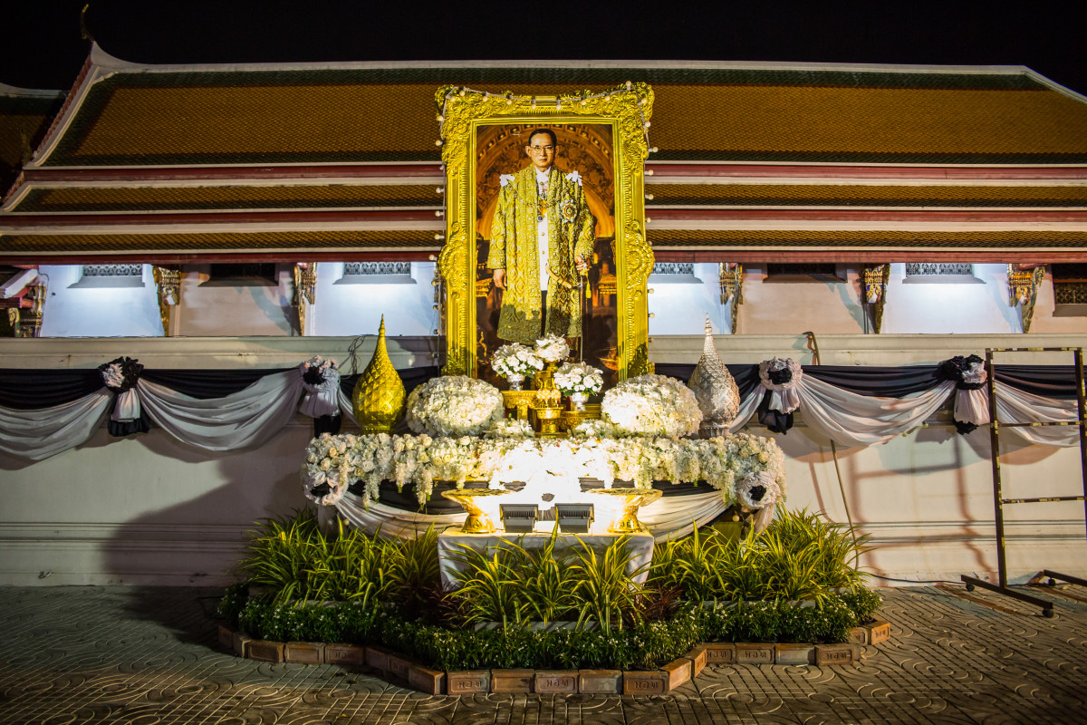 Tajlandia król żałoba