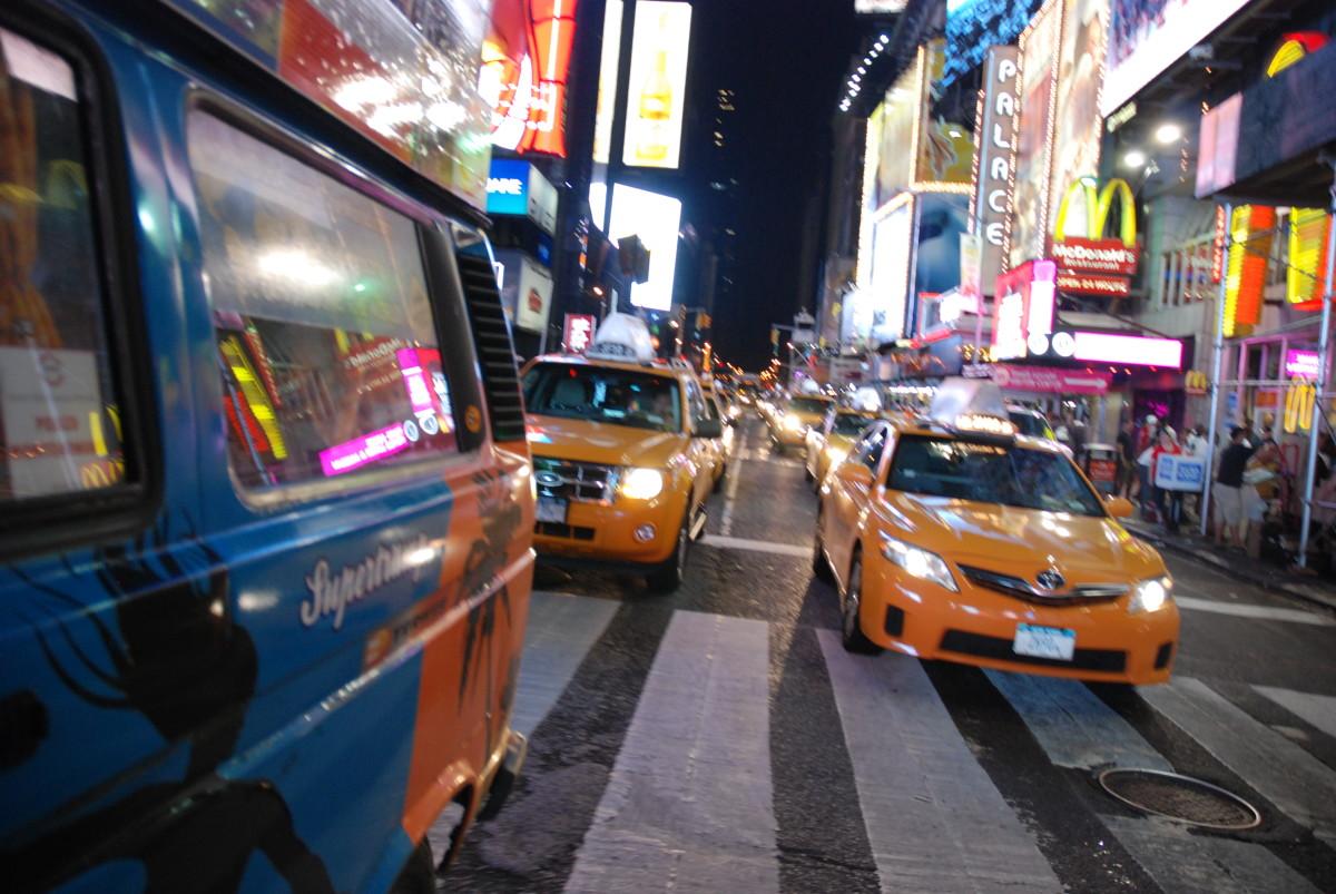 manhattan żółta taksówka