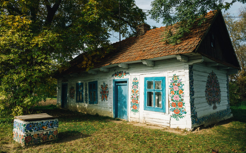 Jedna z najsłynniejszych malowanych chat w Zalipiu
