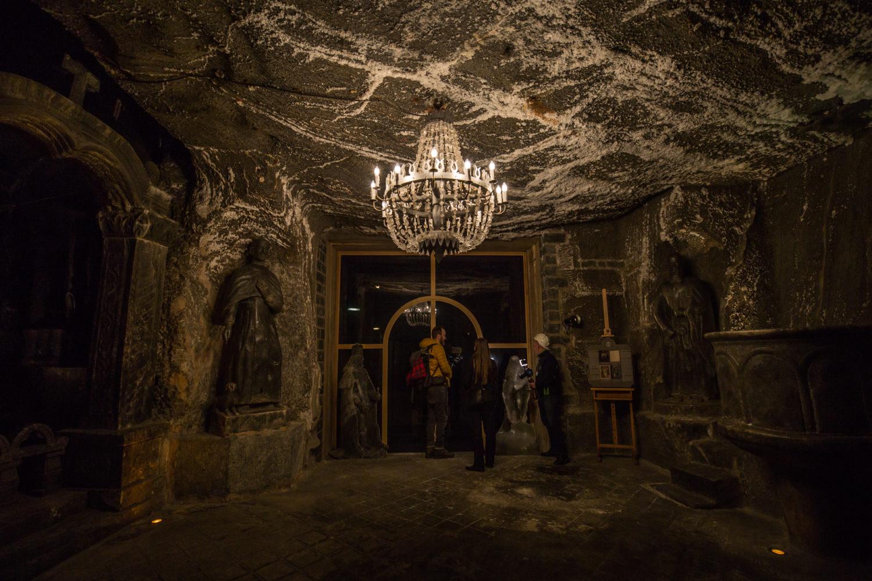W większości komór z soli zrobione są sufity, ściany, podłogi, rzeźby, a nawet żyrandole
