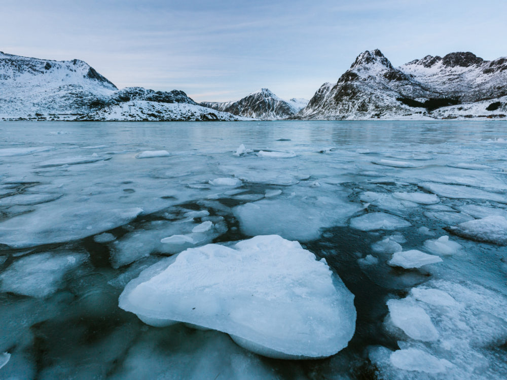 Lofoty Norwegia zimą