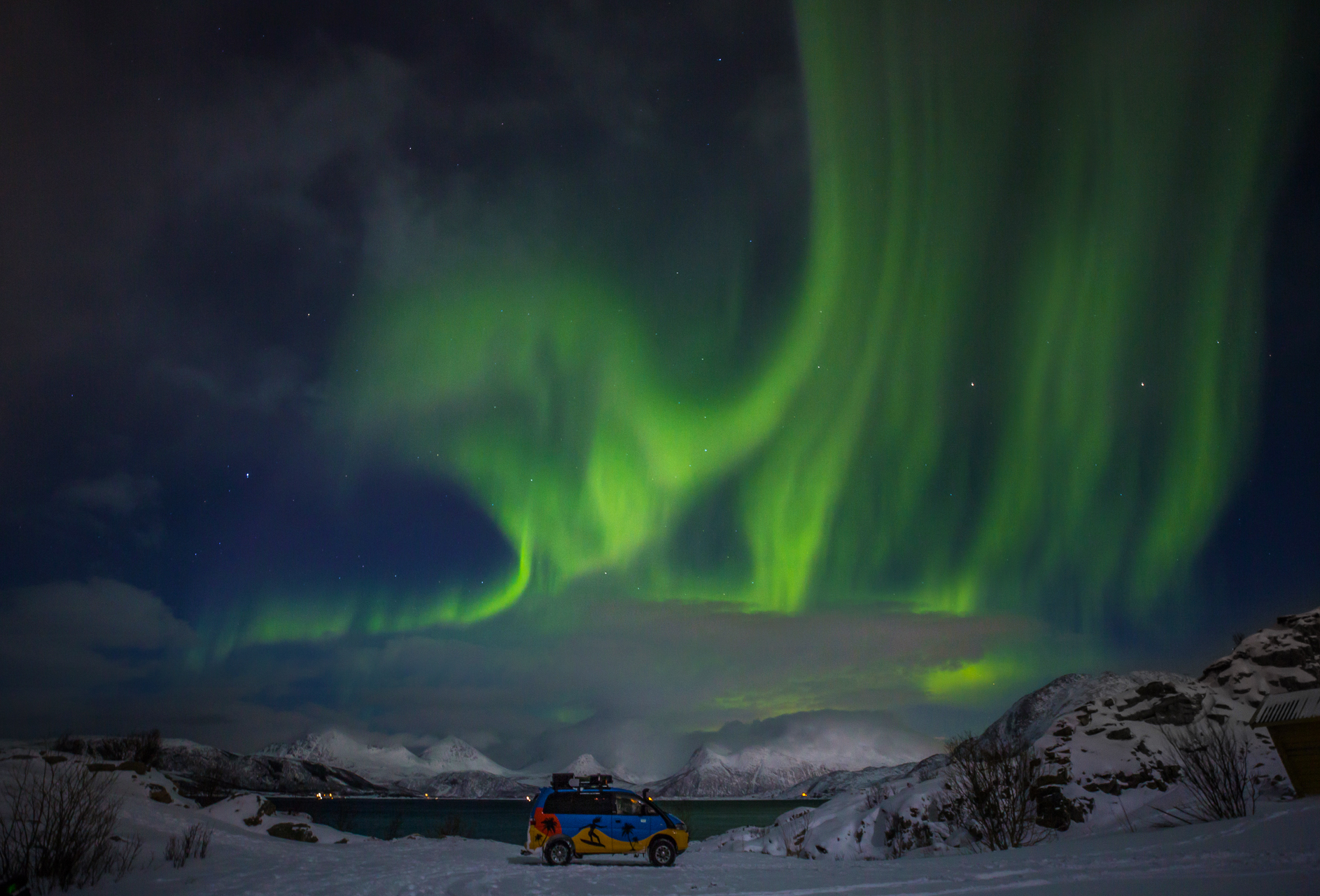 zorza polarna busem przez świat norwegia miejscówki gdzie