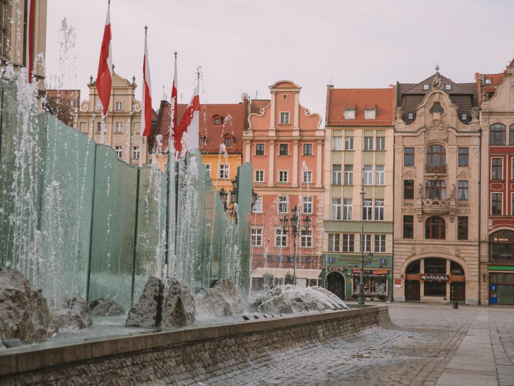 Wrocław rynek fontanna