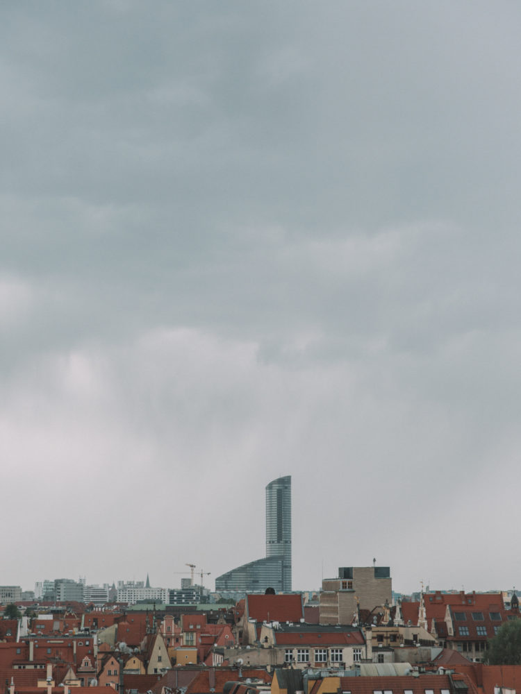 Sky Tower widziany z Wieży Matematycznej