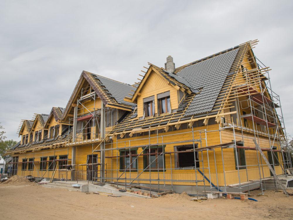 Tatarska Jurta w odbudowie (kwiecień 2019). Gdy zostanie ukończona, poza restauracją będą tu tez pokoje gościnne