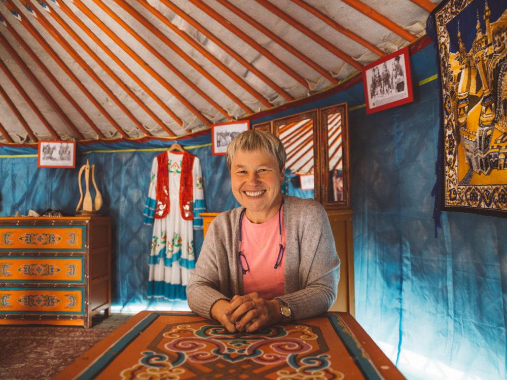 Pani Dżenetta, właścicielka restauracji Tatarska Jurta