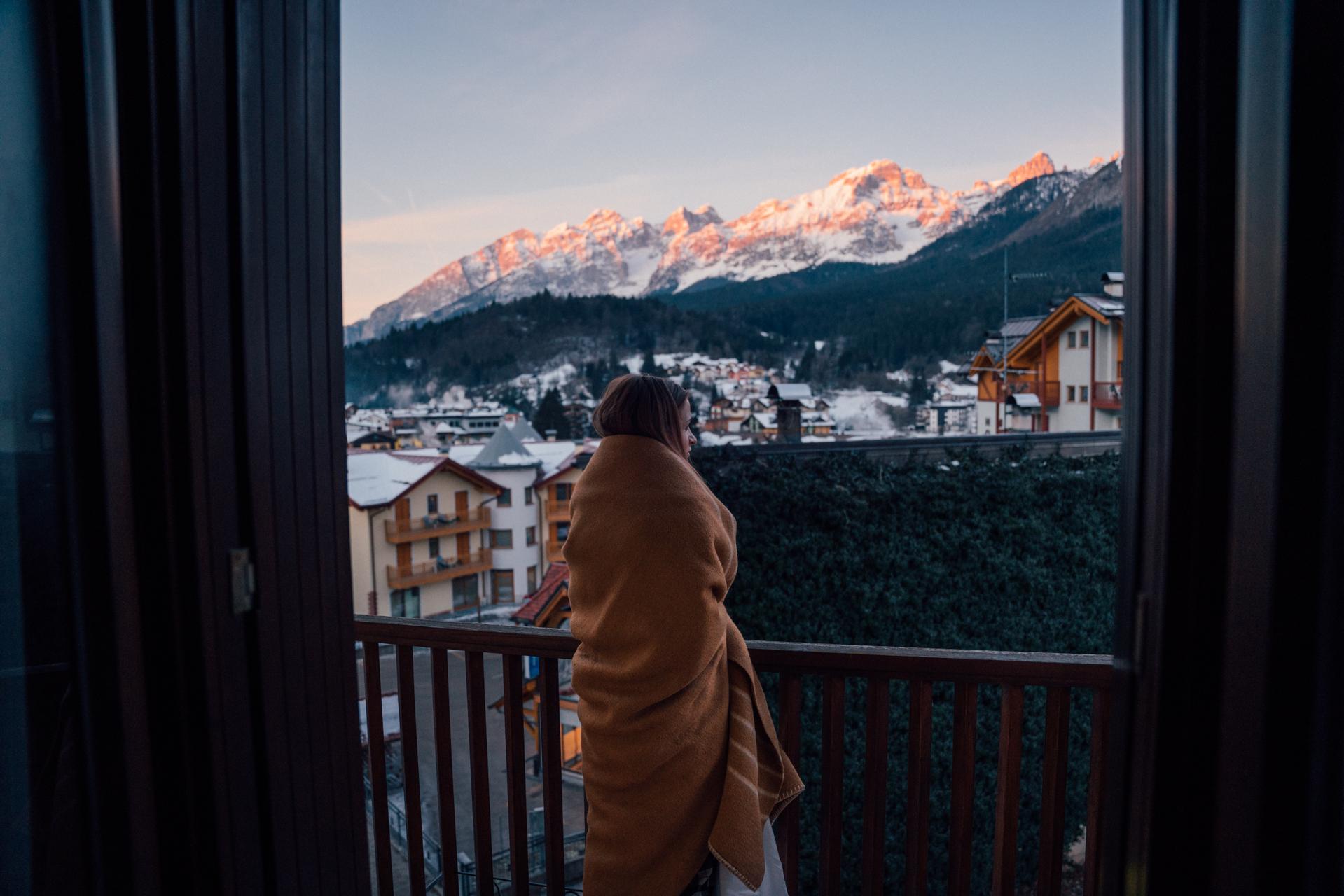 Wszystkie narciarskie miasteczka są otoczone przepięknymi górami